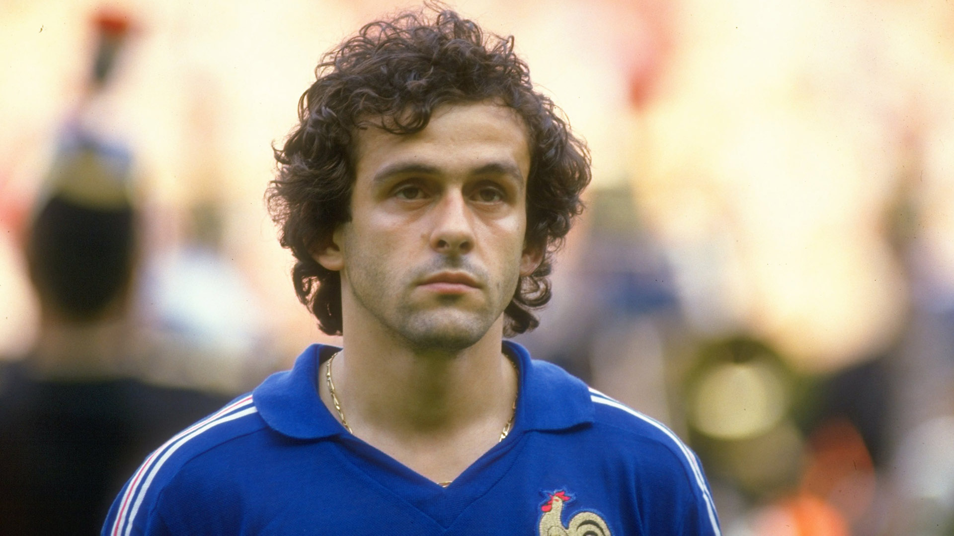 27 Jun 1984: Portrait of Michel Platini of France before the European Championship final against Spain at Parc des Princes in Paris. France won the match 2-0. Mandatory Credit: Allsport UK /Allsport