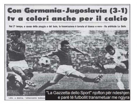 gazeta dello sport njofton per ndeshjen e pare me ngjyra