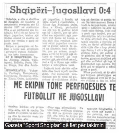 gazeta sporti shqiptar flet per shqiperine