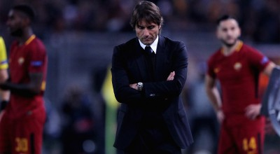 ROME, ITALY - OCTOBER 31:  Chelsea FC head coach Antonio Conte reacts during the UEFA Champions League group C match between AS Roma and Chelsea FC at Stadio Olimpico on October 31, 2017 in Rome, Italy.  (Photo by Paolo Bruno/Getty Images )