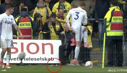 Brondby-fans-throw-dead-rats-at-Copenhagen-players
