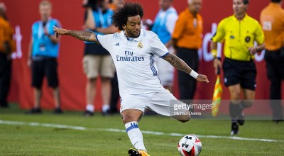Soccer: International Champions Cup: Real Madrid Marcelo Vieira (12) in action vs Bayern Munich during preseason game at MetLife Stadium. East Rutherford, NJ 8/3/2016 CREDIT: Michael Owens (Photo by Michael Owens /Sports Illustrated/Getty Images) (Set Number: SI460 TK1 )