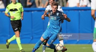 EMPOLI, ITALY - OCTOBER 20: Kleis Bozhanaj of Empoli U19 in action during the match Empoli Fc U19 between US Sassuolo U19 on October 20, 2018 in Empoli, Italy.  (Photo by Gabriele Maltinti/Getty Images)
