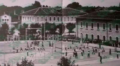 Viti 1936. Kompleksi sportiv i Gjimnazit të Shkodrës, ndër më modernët për gjimnazet e gjithë Ballkanit të asokohe. Punimet për ngritjen e tij i drejtoi prof. Irfan Tërshana.