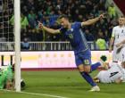 Soccer Football - UEFA Nations League - League D - Group 3 - Kosovo v Azerbaijan - Fadil Vokrri Stadium, Pristina, Kosovo - November 20, 2018  Kosovo's Amir Rrahmani celebrates scoring their third goal  REUTERS/Florion Goga
