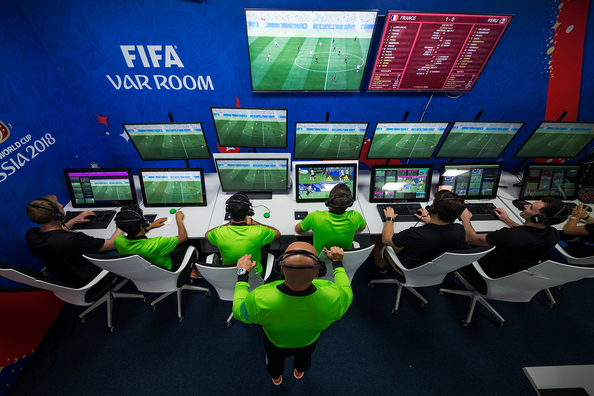 Video Assistant Refereeing (VAR) Room - 2018 FIFA World Cup Russia