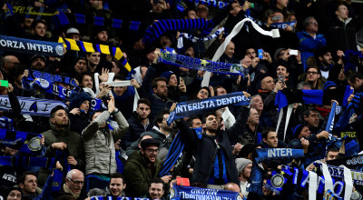 Inter Milan's supporters cheer ahead of the Italian Serie A football match Inter Milan vs AS Roma at the San Siro stadium in Milan on February 26, 2017. / AFP / MIGUEL MEDINA        (Photo credit should read MIGUEL MEDINA/AFP/Getty Images)