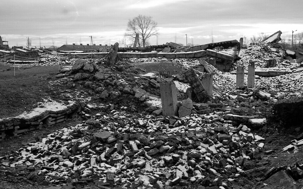 The remains of a gas chamber and crematorium at the former Nazi death camp of Auschwitz-Birkenau or Auschwitz II in Oswiecim, Poland, Sunday, Dec. 8, 2019. On Jan. 27, 1945, the Soviet Red Army liberated the Auschwitz death camp in German-occupied Poland. The Germans had already fled westward, leaving behind the bodies of prisoners who had been shot and thousands of sick and starving survivors. The Soviet troops also found gas chambers and crematoria that the Germans had blown up before fleeing in an attempt to hid evidence of their mass killings. But the evidence of their genocide could not be covered up. Today, 75 years after the camp's liberation, the site of Auschwitz-Birkenau endures as the leading symbol of the terror of the Holocaust. (AP Photo/Markus Schreiber)