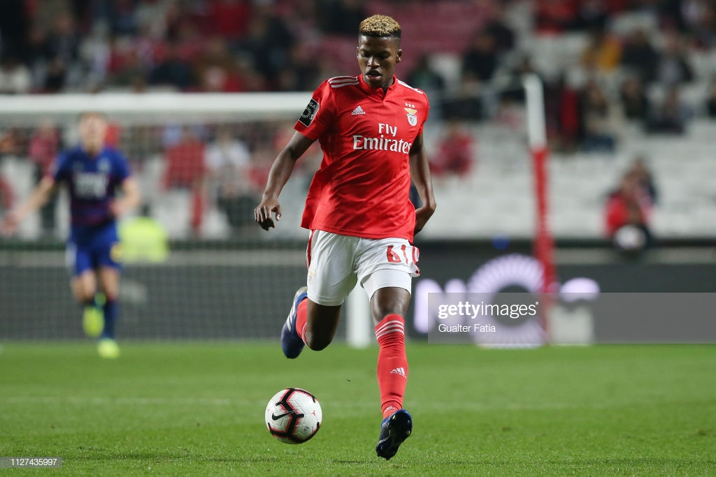 LISBON, PORTUGAL - FEBRUARY 25:  Florentino Luis of SL Benfica in action during the Liga NOS match between SL Benfica and GD Chaves at Estadio da Luz on February 25, 2019 in Lisbon, Portugal.  (Photo by Gualter Fatia/Getty Images)
