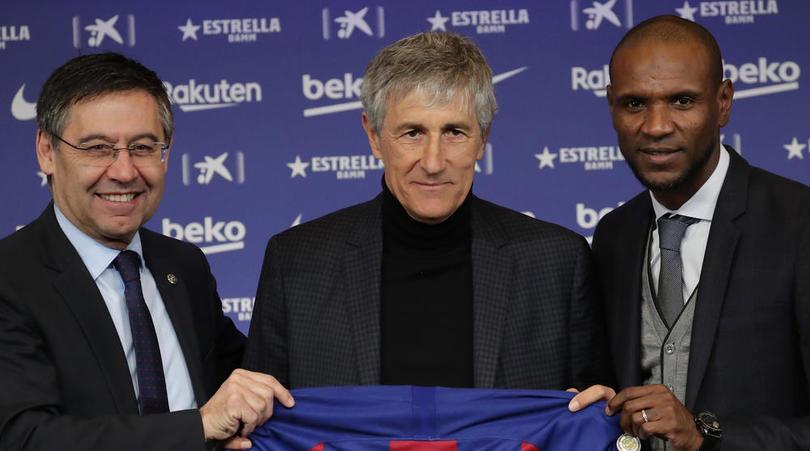 Spain Soccer Barcelona Setien