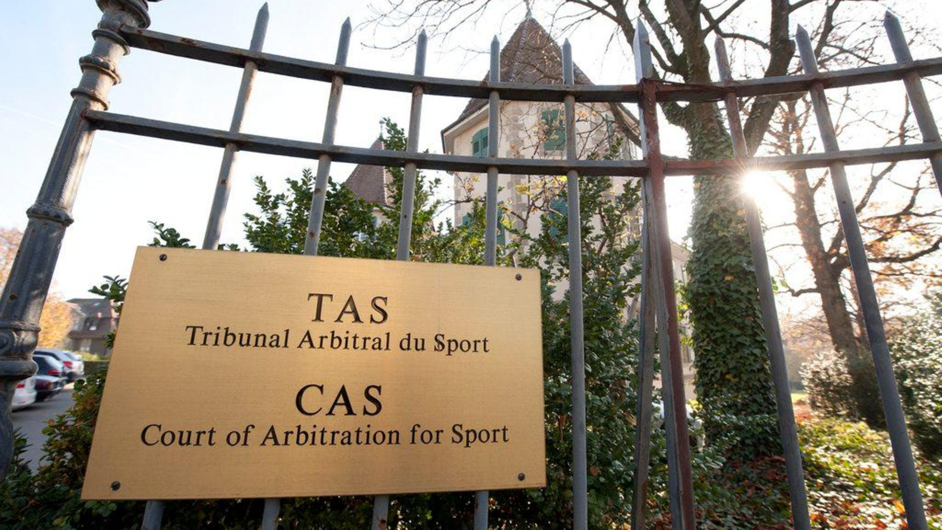The Court of Arbitration for Sport (CAS) in Lausanne, Switzerland, Monday, November 21, 2011. The International Cycling Union (UCI) and World Anti-Doping Agency (WADA) filed appeals at the Court of Arbitration for Sport (CAS) against the decision of the Spanish Cycling Federation (RFEC) exonerating Alberto Contador 2010 Tour de France victory from any sanction following an adverse analytical finding for the substance clenbuterol. (KEYSTONE/Dominic Favre)