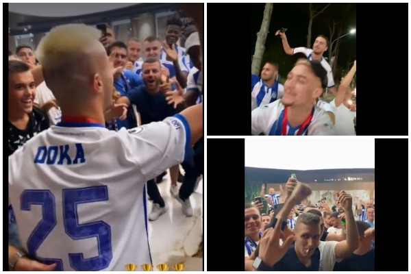 Tirana festa e lojtareve te tifozet
