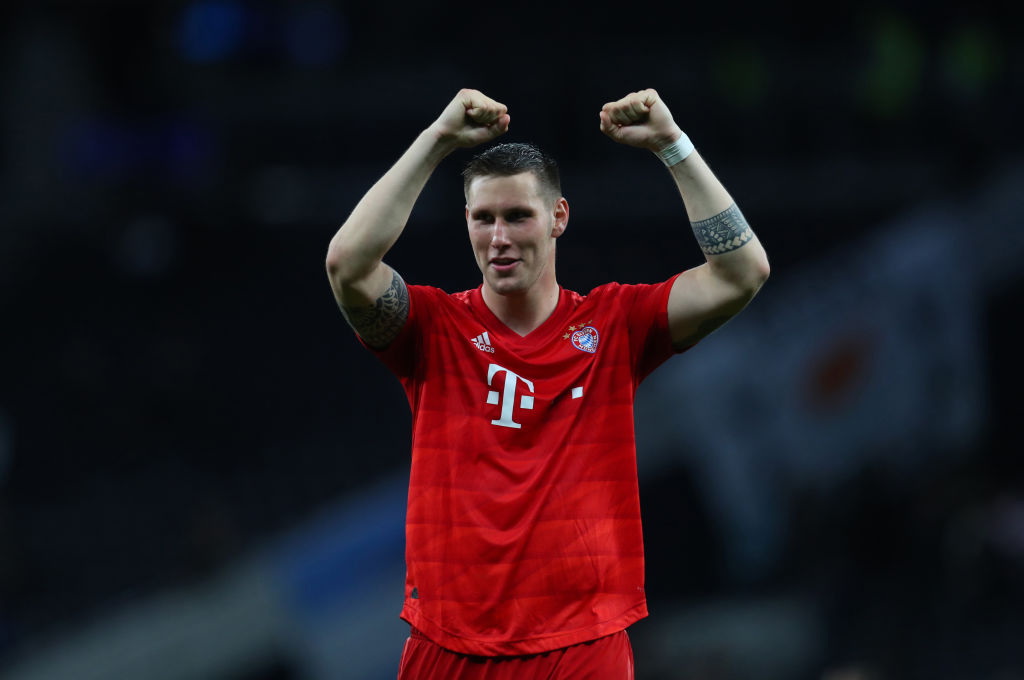 LONDON, ENGLAND - OCTOBER 01: Niklas Sule of Bayern Munich during the UEFA Champions League group B match between Tottenham Hotspur and Bayern Muenchen at Tottenham Hotspur Stadium on October 01, 2019 in London, United Kingdom. (Photo by Catherine Ivill/Getty Images)