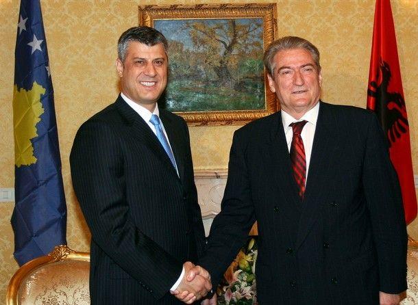 ALBANIA-KOSOVA-BERISHA-THACI