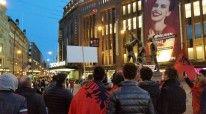 Protestat e shqiptareve ne Finlande
