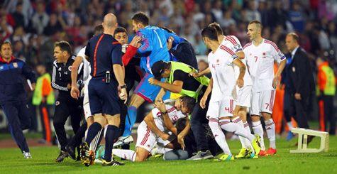 Incidentet në ndeshjen Serbi - Shqipër në Beograd