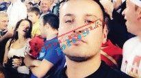 """Në foto: Leotrim Gashi në stadiumin """"Partizan"""" të Beogradit gjatë ndeshjes Serbi-Shqipëri"""