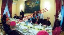 Në foto: Dreka e Papa Françeskut në Ambasadën në Vatikan.
