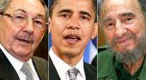 Fotomontazh, vëlezërit Kastro dhe Obama