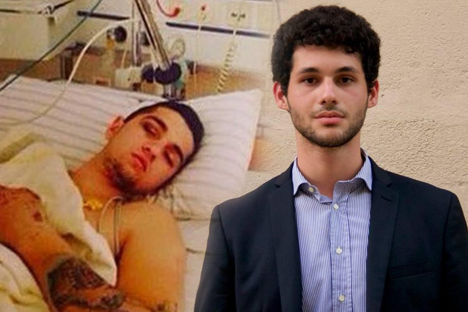 Matas, Serxho Martiniani në spital në Gjermani dhe djathtas, Atjon Zhiti, i vdekur në aksident
