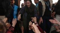 Jolie ne nje kamp refugjatesh ne Irak