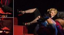 Madonna rrëzohet në skenë