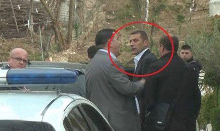 Mark Frroku gjatë arrestimit