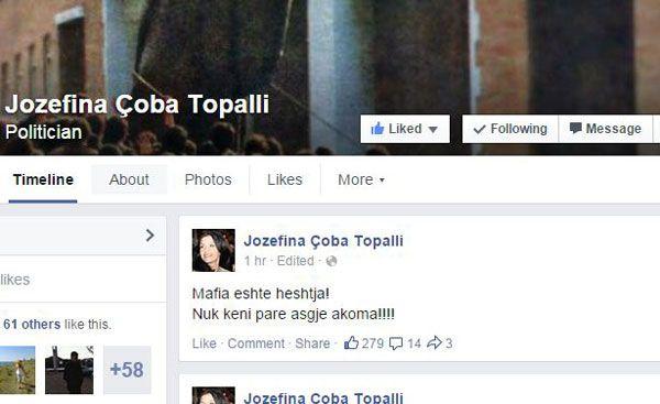 Statusi i Topallit në Facebook