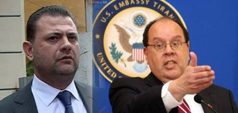 Ish deputeti i PS, Tom Doshi dhe ish ambasadori i SHBA ne Shqiperi, Xhon Uidhers