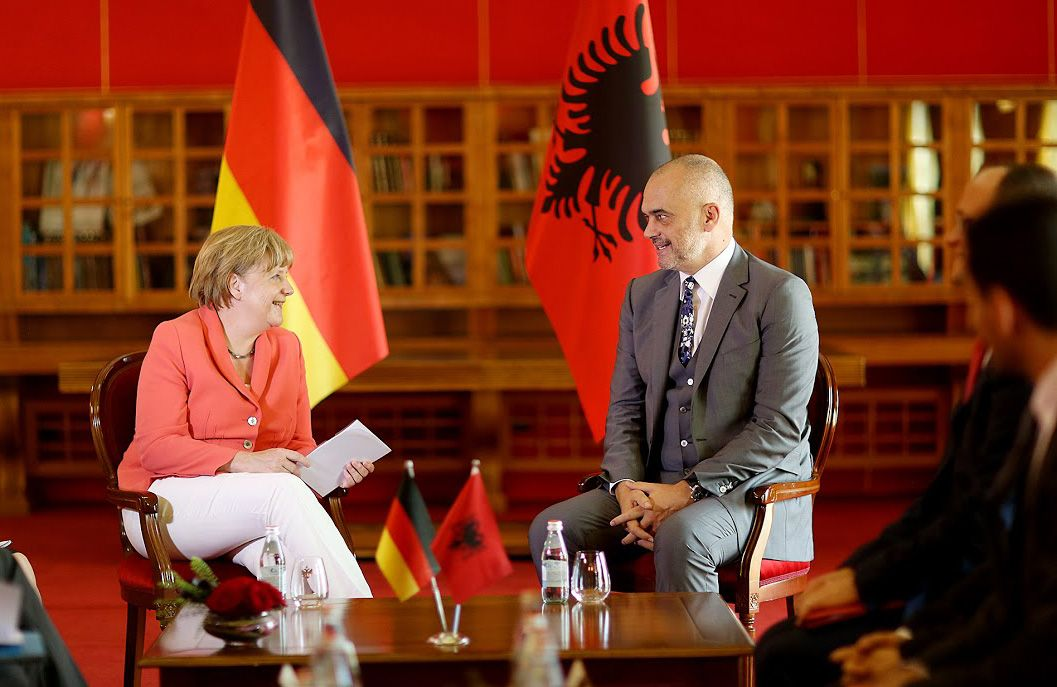 Kryeministri Edi Rama dhe Kancelarja Angela Merkel
