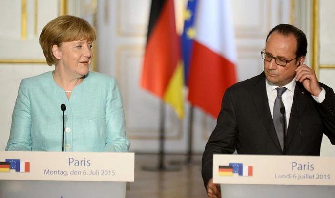 Kancelarja gjermane Angela Merkel dhe presidenti francez Francois Hollande ne Paris