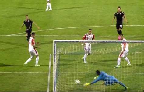 Momenti i golit te dyte nga Dinamo e Zagrebit