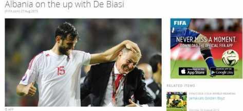 Lajmi ne faqen e FIFA-s