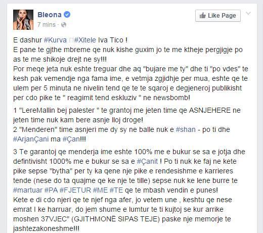 Reagimi i Bleonës në FB
