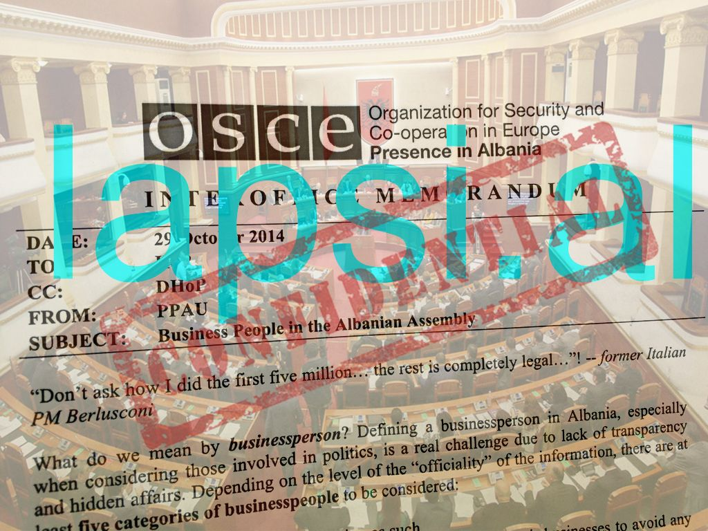 Raporti konfidencial i OSBE