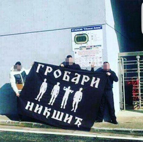 """Tifozët e Partizanit të Beogradit në """"Elbasan Arena"""""""