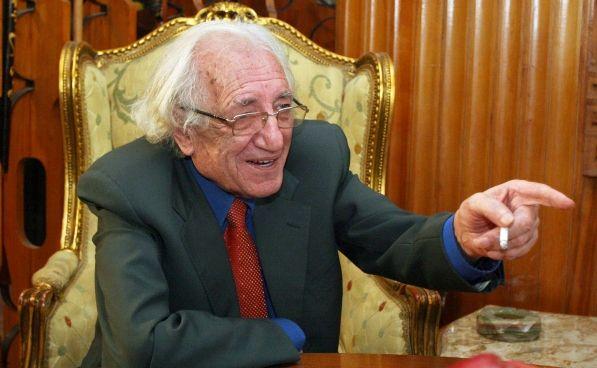 Shkrimtari Dritero Agolli, gjate festes se 79 vjetorit te lindjes se tij.