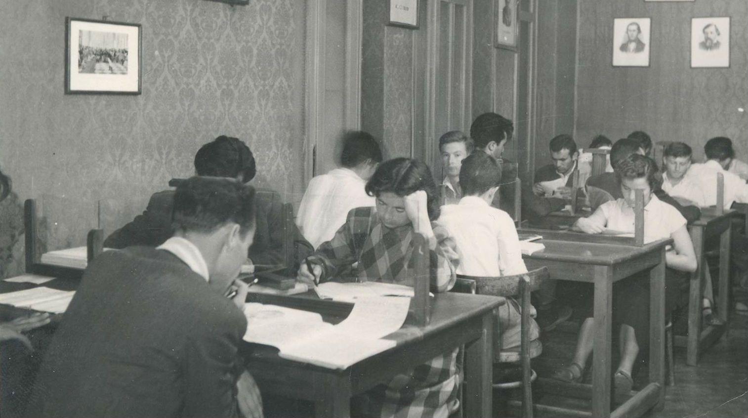 Një nga sallat e vjetra të leximit