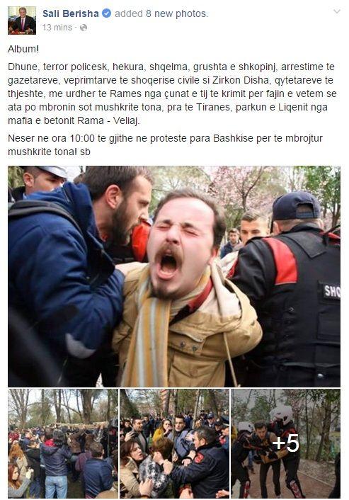 Berisha: Protestuesit po mbronin mushkritë tona. Nesër para Bashkisë