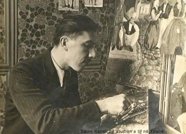 Sadik Kaceli në studion e tij