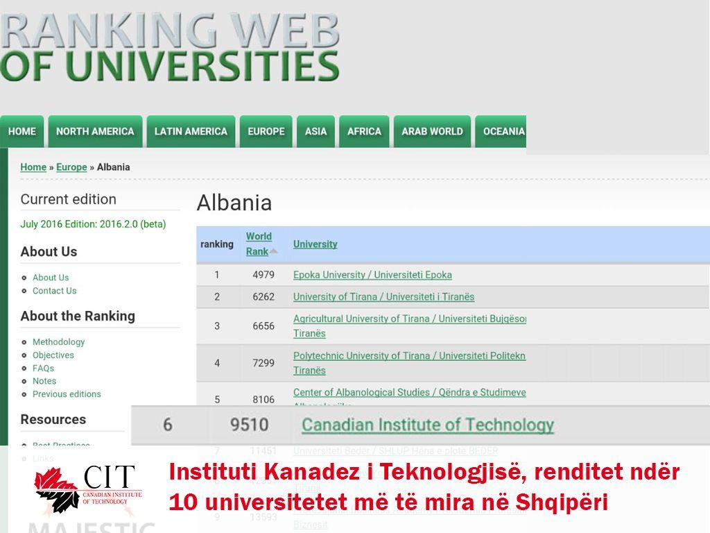 Instituti Kanadez i Teknologjisë i gjashti në Shqipëri, ja arsyet pse duhet të vini në CIT