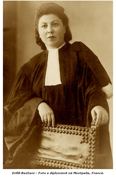 Erifili Bezhani, foto e diplomimit në Montpelie, Francë