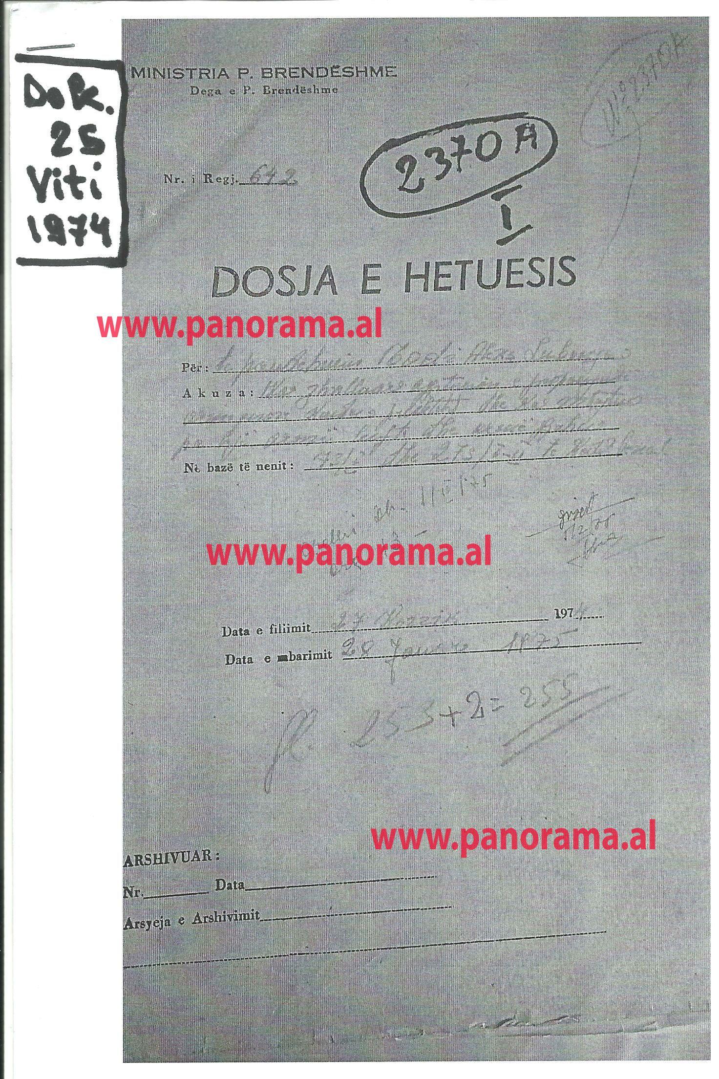 Faksimile e dokumenteve arkivorë të përdorur në librin e Dashnor Kaloçit