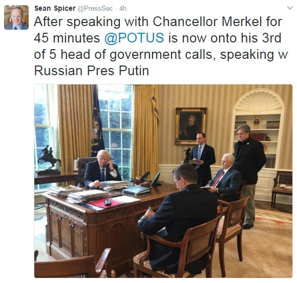 Trump-Bisede telefonike