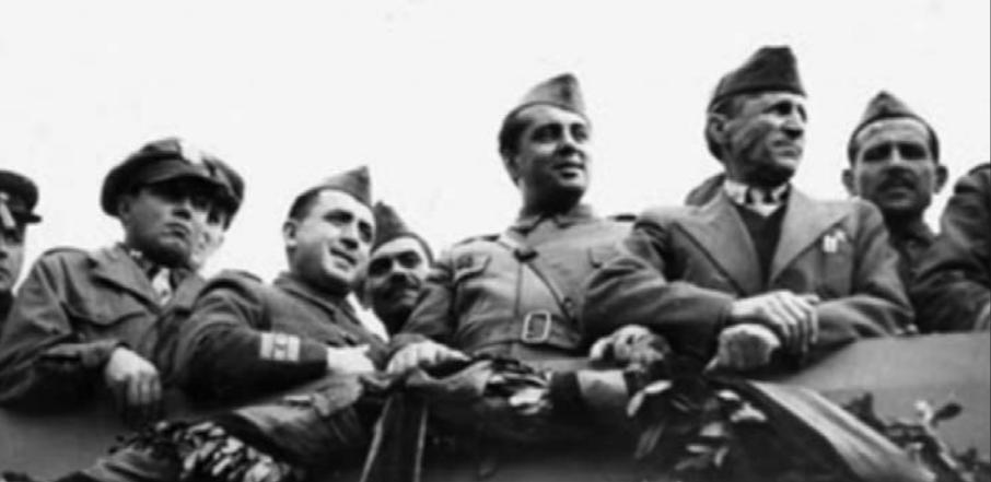 Nako Spiru, Koçi Xoxe, Enver Hoxha, Omer Nishani, Mehmet Shehu, më 28 nëntor 1944