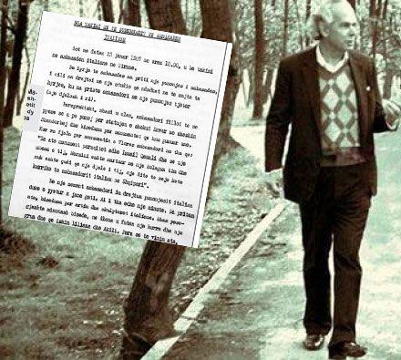Kristaq Rama dhe faksimilie e raportit