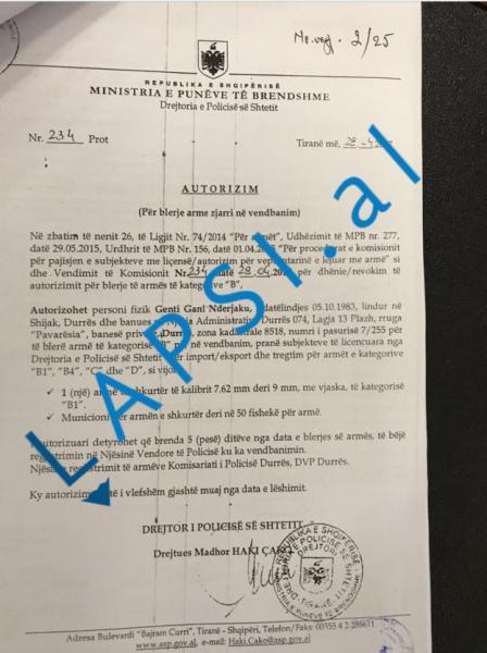 Zbulohet dokumenti, i forti i Durrësit u armatos me firmën e Haki Çakos