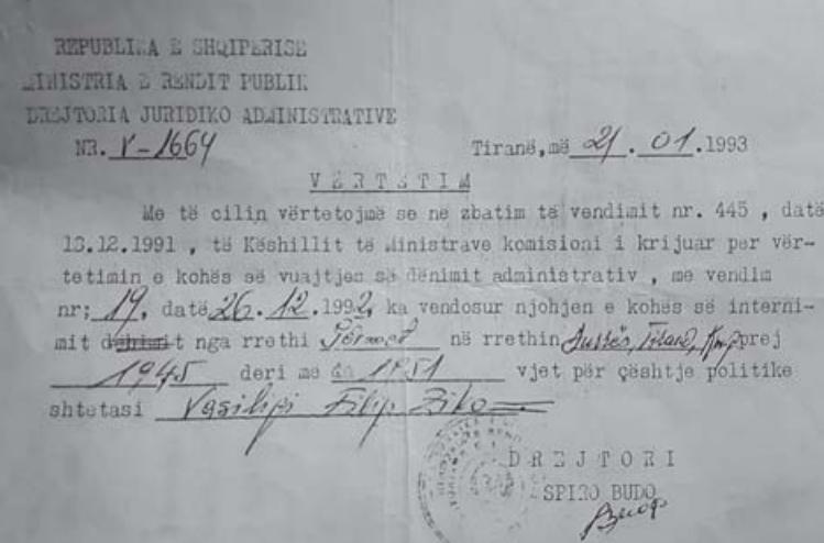 Faksimile të dokumenteve që tregojnë për akuzat e Dhimitër Zikes, Miço Xhikes- është emri version i shqiptarizuar qe ia shkruanin ata të hetuesisë duke iu referuar Dhimitër Ziko