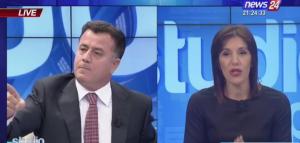 Video/Krimi ka ngjyrë blu, sherr live në emision mes deputetit të PD-së dhe gazetares