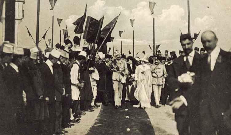 Momente nga ardhja e Princ Vidit në Durrës, 7 mars 1914